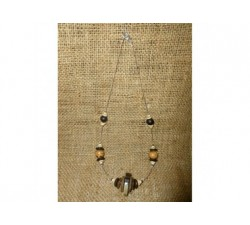 Collier graine Savonnette Céramique