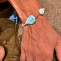 Bracelet : larimar -...