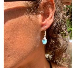 Boucles d'oreilles : larimar - simple