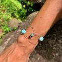 Bracelet : larimar boules...