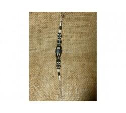 Collier graine Œil de Bœuf  Bambou Jade Œil de Faucon
