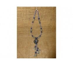 Collier Graine Bleue Palmier Savonnette Flamboyant