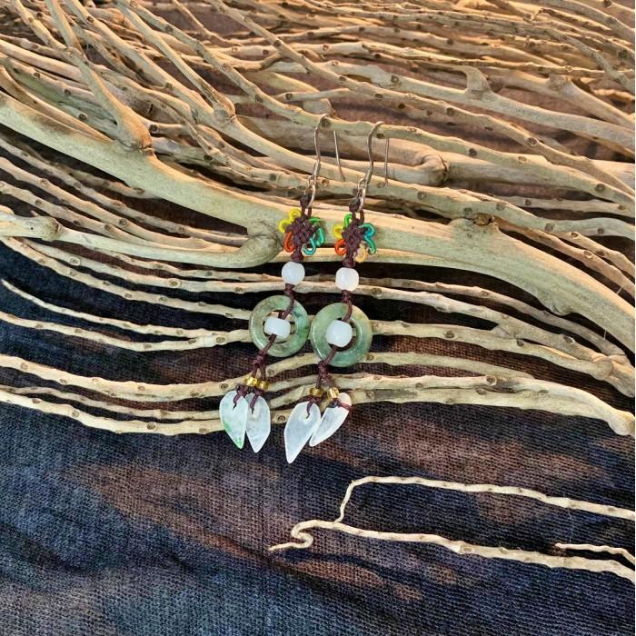 Boucles d'oreilles en Jade N°5