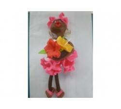 Magnet Doudou - Fuchsia - Fleurs