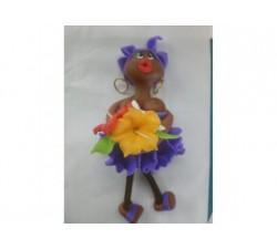 Magnet Doudou - Violet - Fleurs
