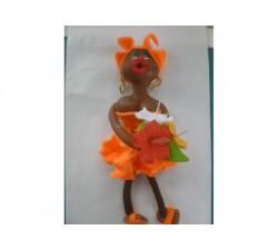 Magnet Doudou - Orange - Fleurs