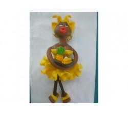 Magnet Doudou - Jaune canari - Fruits