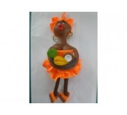 Magnet Doudou - Orange - Fruits