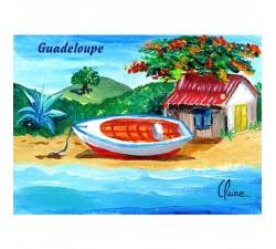 Magnet : peinture Claire - barque 2