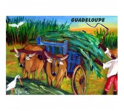 Magnet : peinture Claire - boeufs tirants
