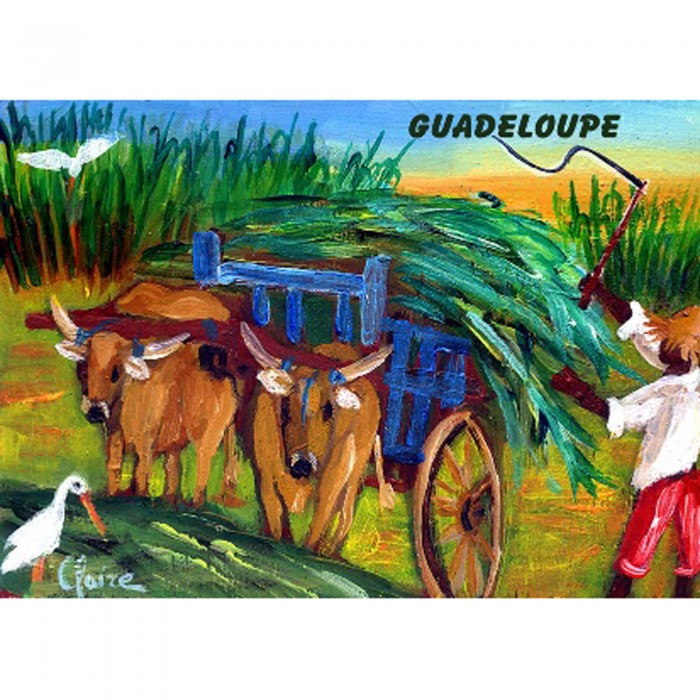 Magnet peinture Claire Boeufs tirants