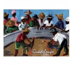 Magnet peinture Claire combat de coqs