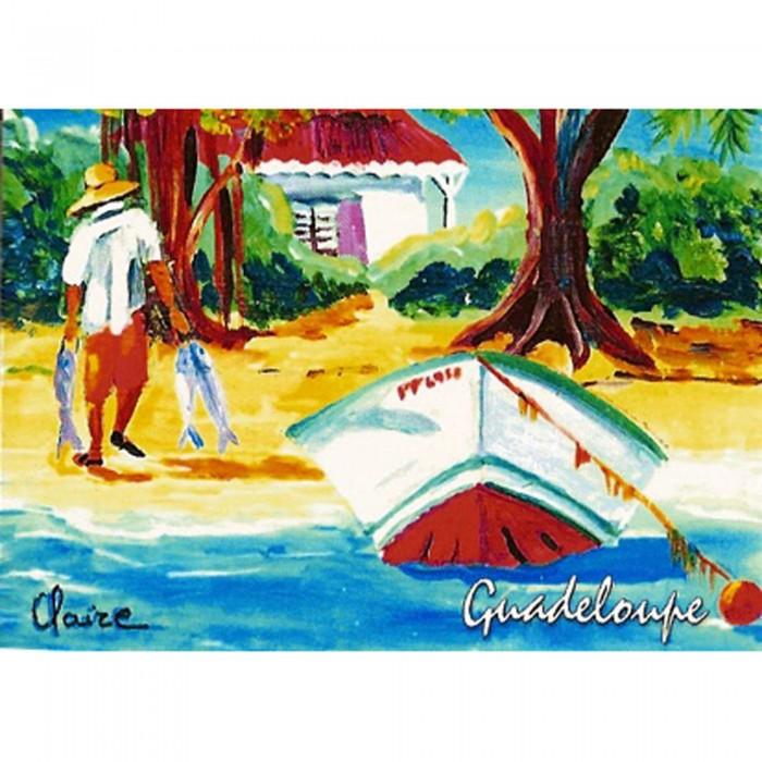 Magnet : peinture Claire - barque 1
