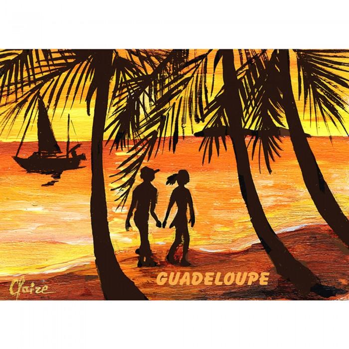 Magnet : peinture Claire - coucher de soleil sur la plage