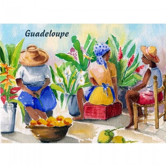 Magnet : peinture Claire - marché aux fruits