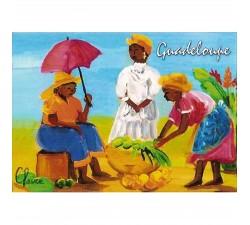Magnet : peinture Claire - marché aux légumes
