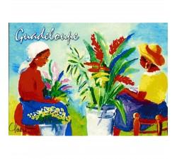 Magnet : peinture Claire - marchés aux fleurs