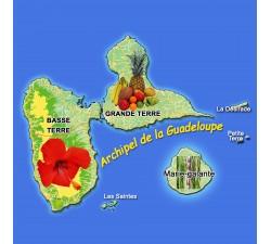 Magnet - carte archipel Guadeloupe