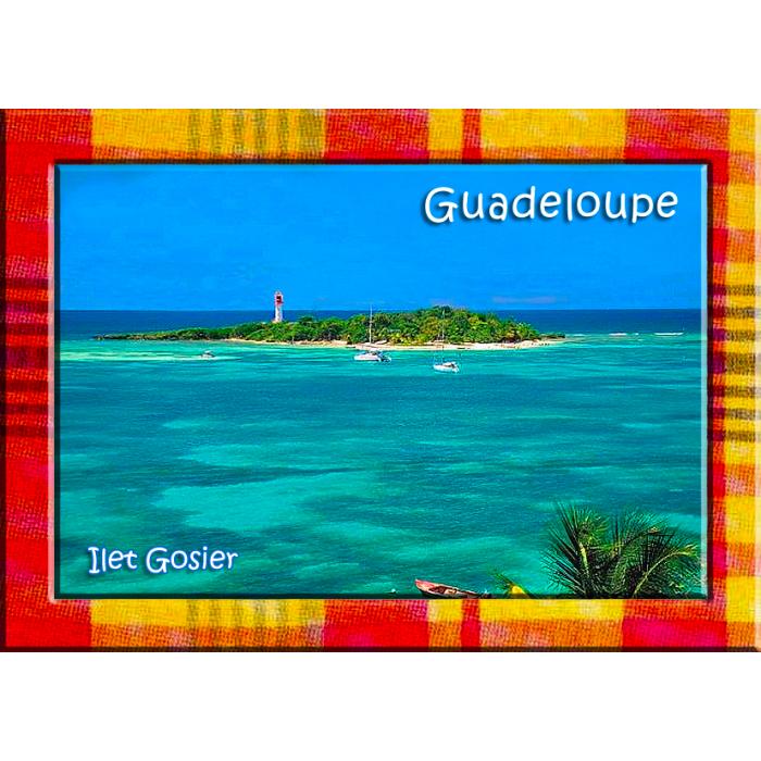 Magnet Photo - Contour Madras - Îlet Gosier