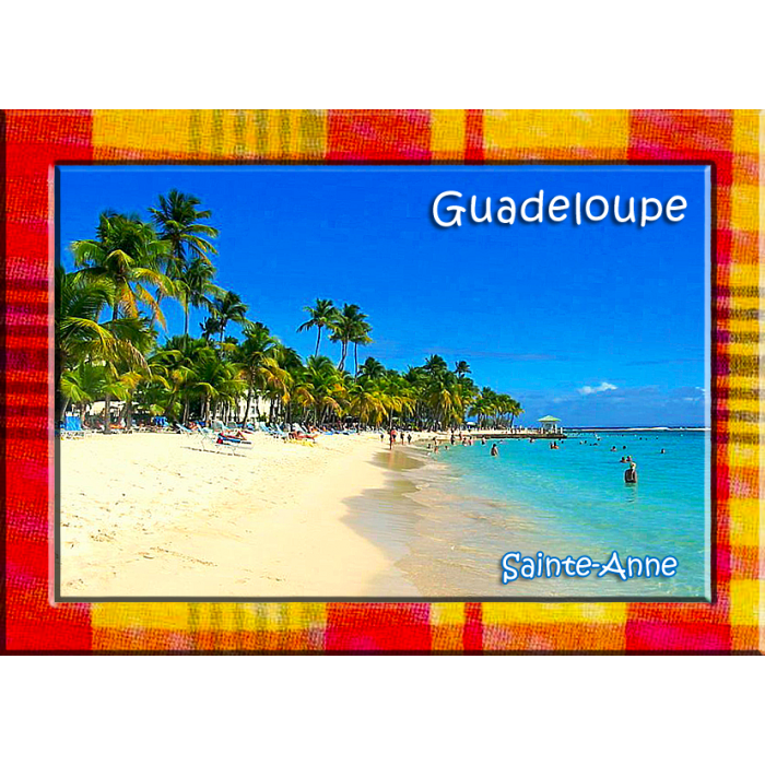 Magnet Photo - Contour Madras - Plage de Sainte Anne