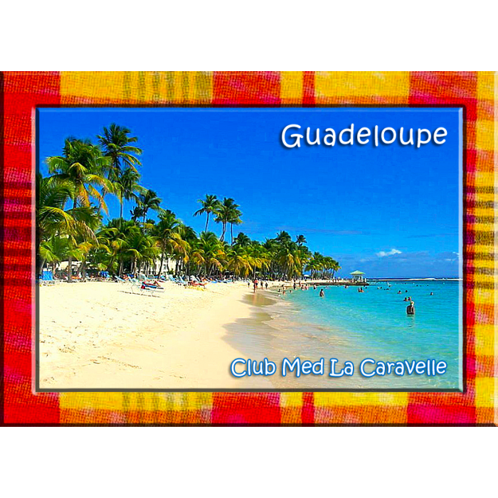 Magnet Photo - Contour Madras - Plage du Club Med la Caravelle