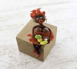 Magnet : doudou - rouge - fruits