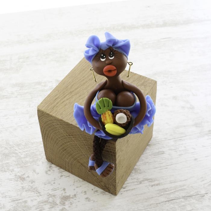 Magnet : doudou - bleu - fruits