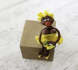 Magnet : doudou - jaune canari - fruits