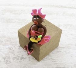 Magnet : doudou - fuchsia - fruits