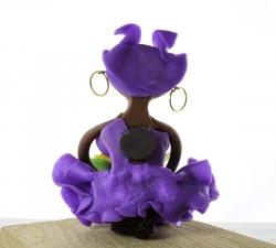 Magnet : doudou - violet -  fruits