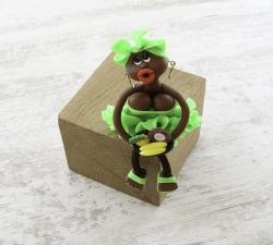 Magnet : doudou - vert fluo - fruits