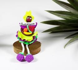 Magnet : doudou - robe froufrou - 1