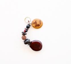 Parure Collier et bracelet graine Zanzibar