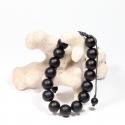 bracelet : agate noire -...