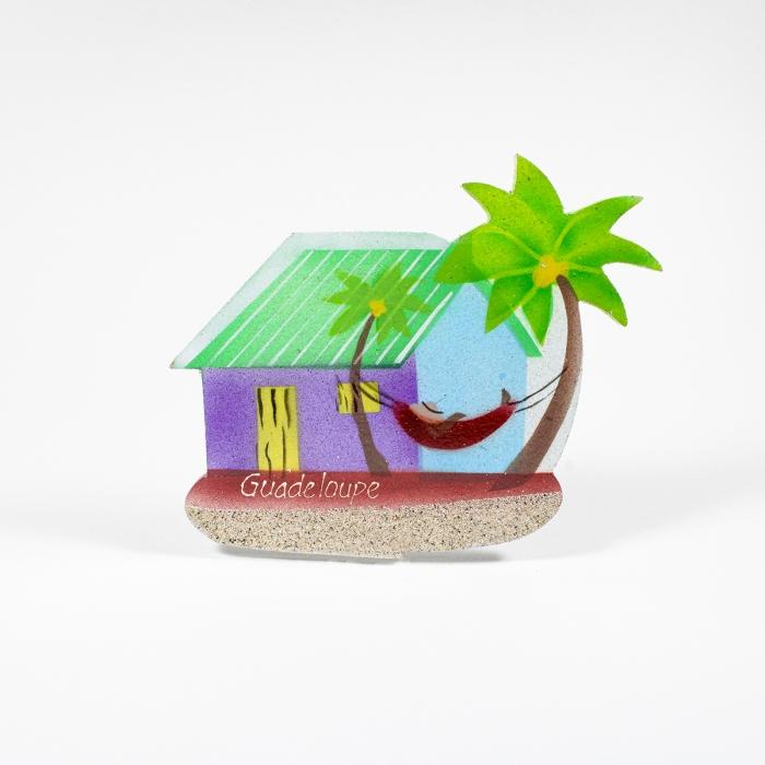 Magnet : case créole - sable - hamac 3