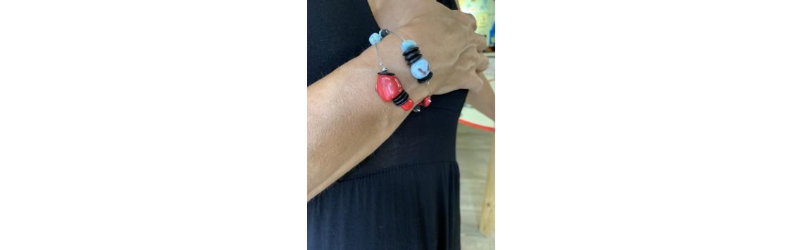 Bracelet fait à la main artisanat Guadeloupe