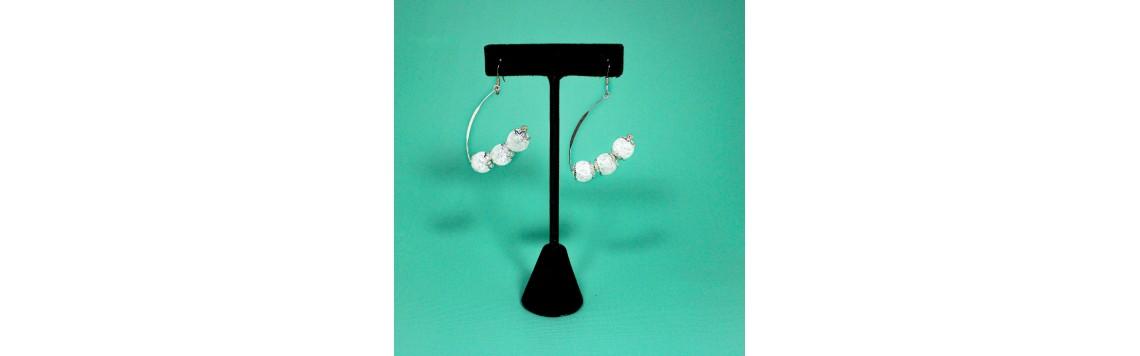Boucles d'oreilles en pierres semi-précieuses